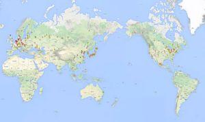 Map of Polar Bears in Captivity (2014)