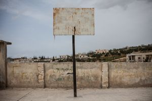 © Maciej Moskwa/TESTIGO.pl March 2013, Playground in Um Zaitoun, Hama province.