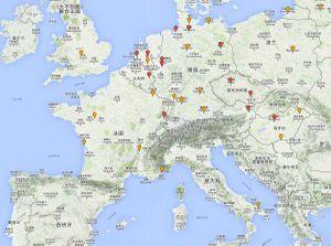 Europe: Map of Polar Bears in Captivity (2014)