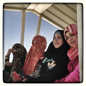 (Left to right) Rahma*, Hiba*, Samar*, and Jana*.