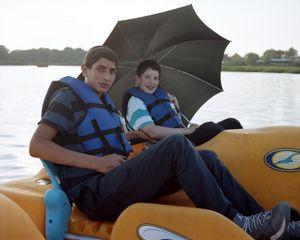 Two Boys in a Peddle Boat, Marine Park, Brooklyn, 2014