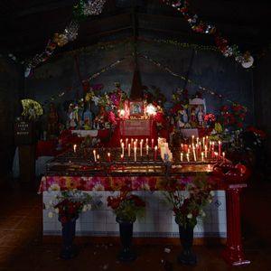 Interior shrine of the San la Muerte chapel in Empedrado village, Corrientes