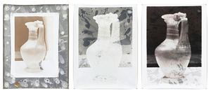 Nature Morte 17, Triptych, Each Print 127 x 172 cm, Silver Gelatin Prints, Mixed Media © Jeff Cowen