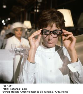 Anouck Aimée, Fellini 8 1/2. Courtesy of Paul Ronald, Archivio Storico del Cinema, AFE