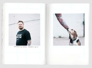 "Geoff Millard and his dog, Resistance. From the photobook ""The Grey Line"" © Jo Metson Scott"