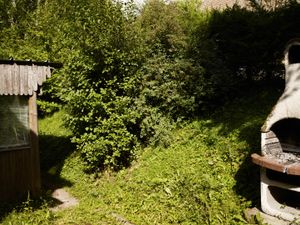 """Yard behind Le Struthof restaurant, formerly """"Struthof Inn."""" The dance-hall was used as a gas chamber of Natzweiler-Struthof concentration camp."""