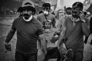 "Many protesters were wounded during the increasingly violent protests. From the series ""Witnessing Gezi"" © Emin Ozmen"