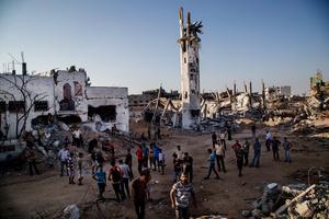 men amongst the rubble