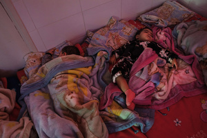 """Casablanca, March 2015. Each day in Morocco there are at least 150 cases of children born out of wedlock and, on average, 23 are abandoned daily. The association """"Solidarité Feminine"""" deals with the care of children of young single mothers within the structure."""
