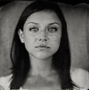 """Caroline."" 7x7""  Wet-plate collodion tintype. © 2010 Keliy Anderson-Staley"