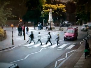 Mass Surveillance, Abbey Road, London, UK, 2011. Photographic Still of Live Streaming Webcam © Gaialight