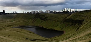 Llyn y Fan Fach, Wales & Canary Wharf, London mix