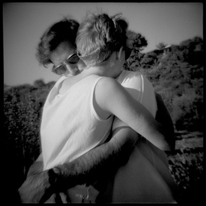 Lynn and Patrick Embracing, Palos Verdes, CA