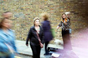 Violin between bricks - London