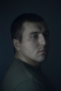 Michailo, 24, student of electrotechnology, picture was taken after he spent 12 months in the war zone, December 2015, Ukraine.