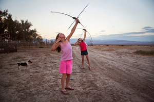 Competition by arrows. Dixie Valley, Nevada 2013