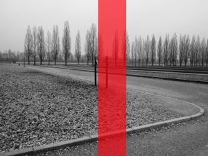 Only strips , Dachau, concentration camp
