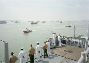 Manning the Rail, USS Tortuga, Java Sea, 2010