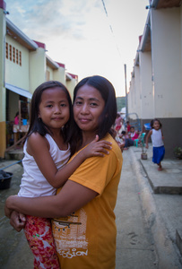 Margie and her daugther, Tacloban