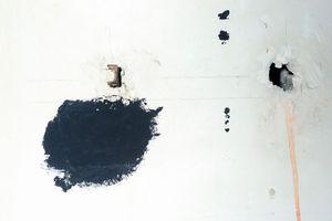 TÂCHE, CROCHET, COULURE,                ET TROU SUR MUR                                 2013 - FRANCE                                                               Format  - 150X100 - 5 EX.                 Format  - 70X100 - 5 EX.                   Format  - 60X40 - 5 EX.                                                    © Louis-Paul Ordonneau