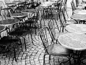 Restaurant Terrace under the Rain