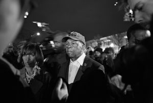Baltimore, MD- Congressman Elijah Cummings (D) representing the 7th District was present on the scene every night at curfew time inviting the protestors to comply and go home and avoid any conflict with the police.