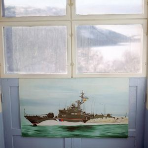 Painting, Coast Guard base. © Maria Gruzdeva