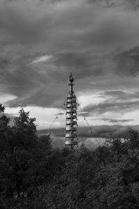 Sky, Pagoda and Trees