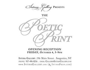 The Poetic Print exhibit