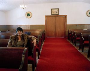 Thelma on Valentine's Day, Antioch Baptist Church, Highway 64                    © Eliot Dudik