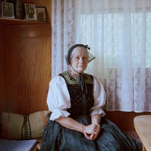 Hilde Aberle, Black Forest, 2016. From the series: The last women in their traditional peasant garbs