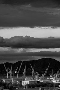 Sky and Cranes