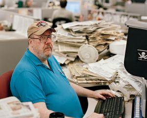 Al Campbell, Copy Editor, 8:09pm, 2009 © Will Steacy