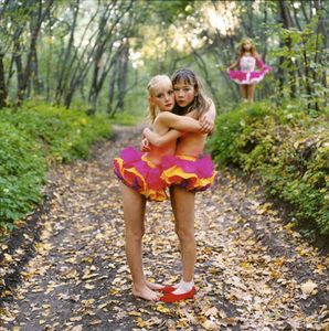 Xenia, Janna and Alona in the Woods, Russia, 2003, from Strangely Familiar by Michal Chelbin, Aperture 2008 © Michal Chelbin