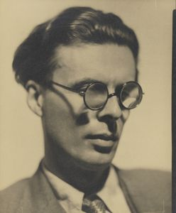 "Aldous Huxley by Howard Coster, 1934 © National Portrait Gallery, London. On view until 29 October in our display in Room 29, ""A Century of Photography, 1840-1940"""