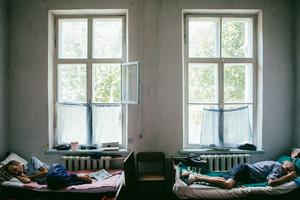 Leonid, 1954, and Anatoly, 1936. Diagnosis: MDR TB. Novozburevka TB hospital, August 2011.