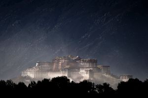 Lhasa, Tibet: Potala Palace in a late afternoon sendstorm. © Matjaz Krivic
