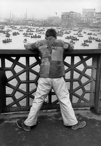 On Galata bridge, Istanbul, 1953