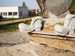 Granite workshop samples near the Gross-Rosen concentration camp site.
