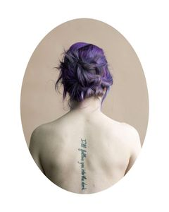"Sinead Purple, from ""a modern hair study"" © Tara Bogart"