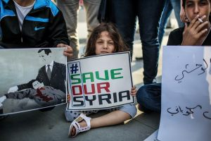 Assad won the election with 88% of the vote. But with over 1/3 of the country's population displaced, many have questioned the legitimacy of the vote. The conflict and protests continue in Syria and abroad. © Turjoy Chowdhury