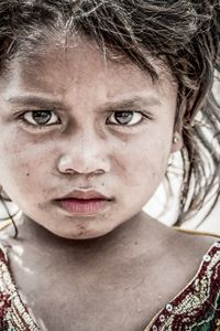 The homeless children. Her childhood is very different from other children her age.