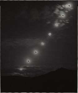 Sunburned GSP#576 (Annular Eclipse, Nevada), 2012 Unique gelatin silver paper negative. 20 x 24 inches. © Chris McCaw