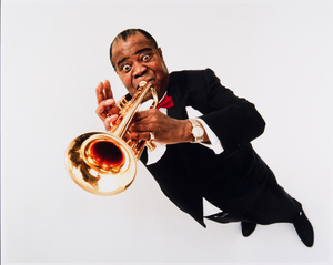 Louis Armstrong, 1966. Archives Philippe Halsman © 2015, Philippe Halsman Archive / Magnum Photos