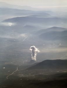 Factory smoke over Muğla Province