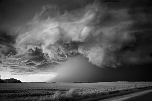 Storm over Field, Lake Poinsett, South Dakota, 2010, © Mitch Dobrowner