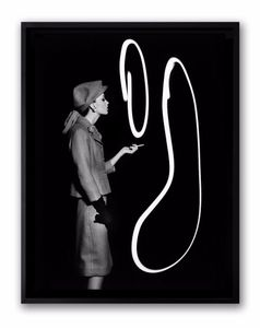 Dorothy Bowing Light Smoke Rings, Paris. Showing at HackelBury Fine Art. Courtesy of PhotoLondon.