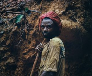 Migrants from the Bashi tribes of Bukavu region provide labor for mines in Raia Mutomboki territory. The Rega are able to play supervisory roles due to their unique technical knowledge on the mining industry gained from laboring under the Belgian colonial enterprises of the past. © Diana Zeyneb Alhindawi