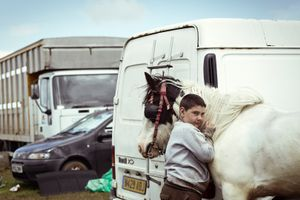 Chris with his horse Paddy