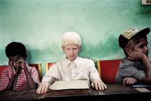 Bangalore, India 2003. Students of Anil Numar school.